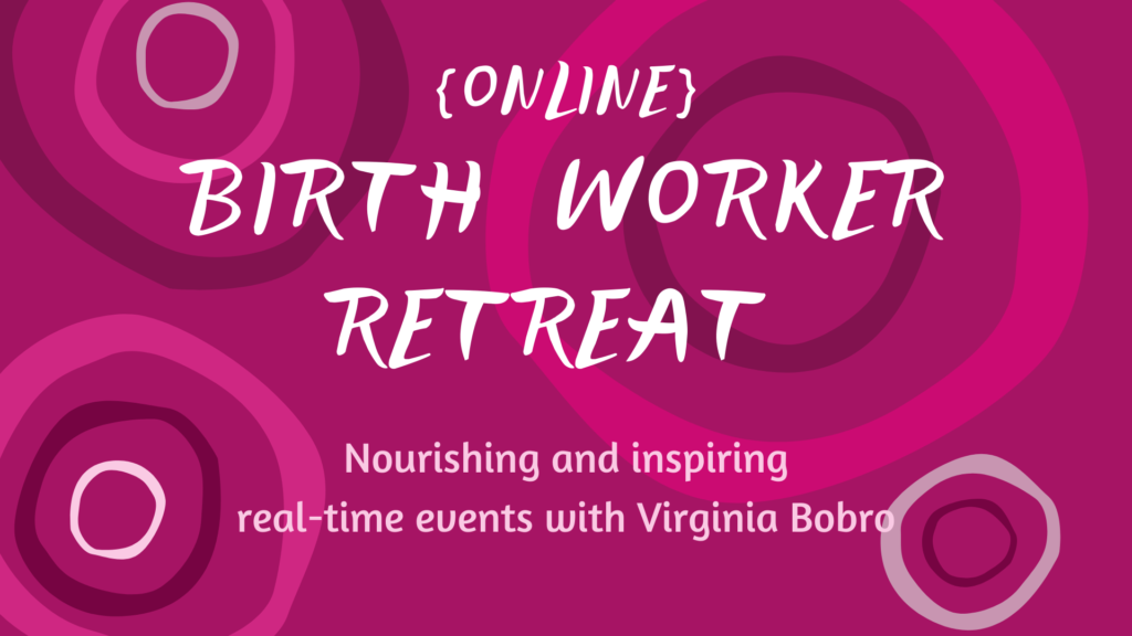 Birth Worker retreat banner